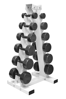 bfaa0c91743 Troy Barbell 5-30 lb Cast Iron Hex Dumbbell Set with Rack ...